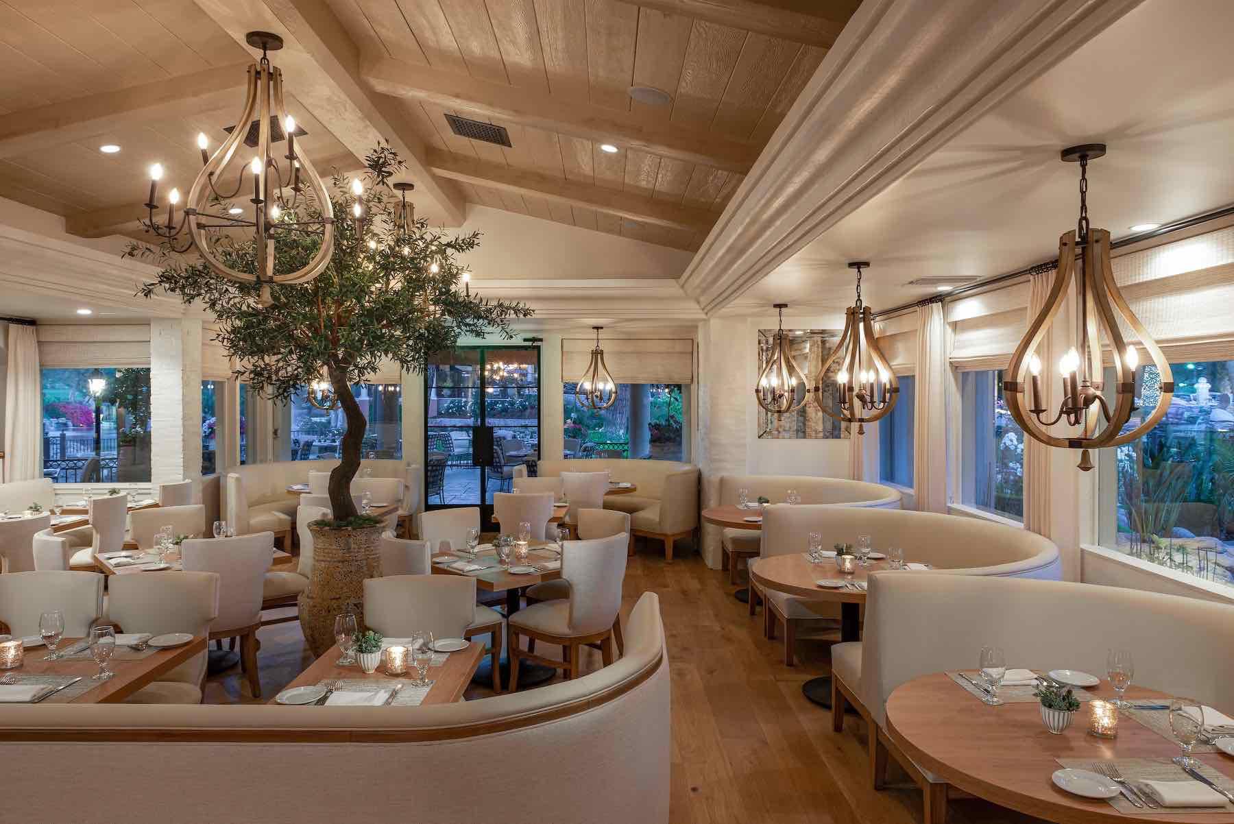 The interior of Mediterraneo one of the best westlake VIllage restaurants