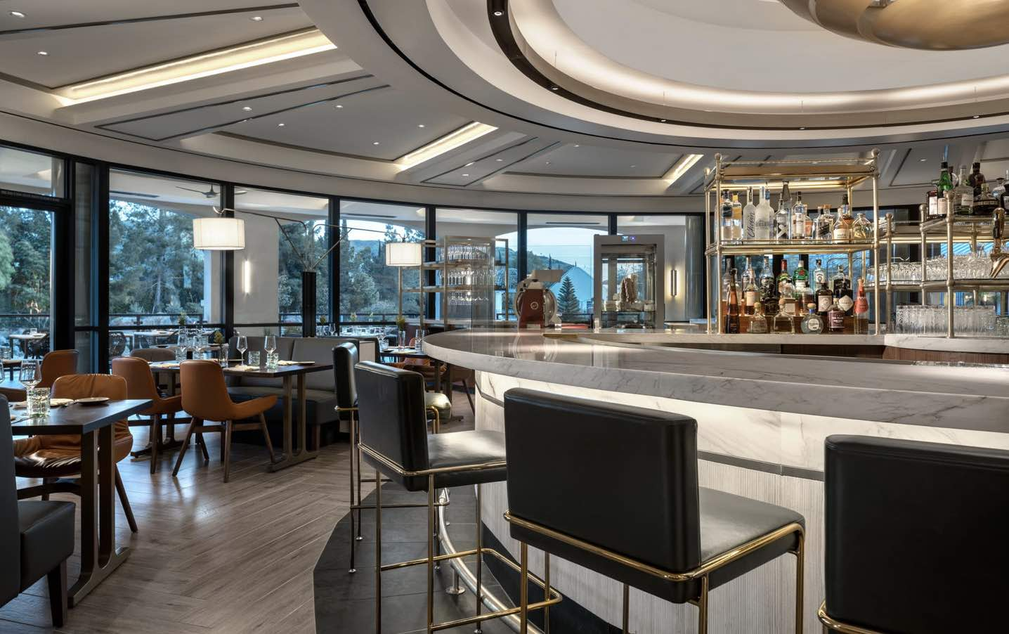 Westlake Village Restaurant Coin and Candor bar and seating